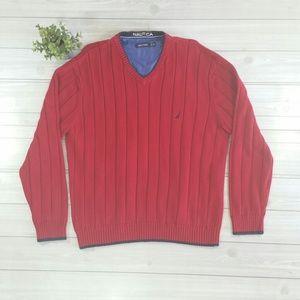 Nautica V neck Sweater / Pullover Jacket XXL